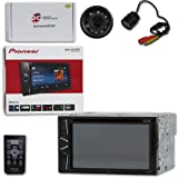 Pioneer AVH-G215BT Car Audio Double Din 2DIN 6.2 Touchscreen DVD MP3 CD Stereo Built-in Bluetooth with DiscountCentralOnline RC09 Waterproof Nightvision Back-up Camera (Tamaño: RC09 Regular camera)