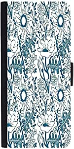 Snoogg Seamless Texture With Flowers And Butterflies Endless Floral Pattern Designer Protective Phone Flip Case Cover For Lenovo Vibe X3