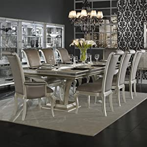 Amazon Hollywood Swank 9 Piece Trestle Dining Table