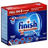 Finish Powerball Dishwasher Detergent, Automatic, Tabs, Fresh Scent, 20 tabs 14.1 oz (402 g)