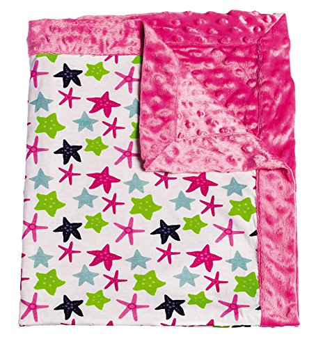 Mermaid Kingdom Patterned Minky Dot Blanket