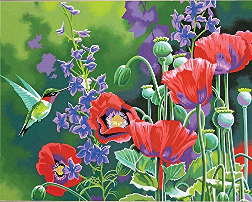 Dimensions Paint by Number Kit, Hummingbird and Poppies
