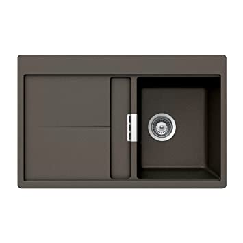 Houzer HORIZONT D-100 BRONZE Horizont Series Undermount Granite Single Bowl with Drain Board Kitchen Sink, Bronze