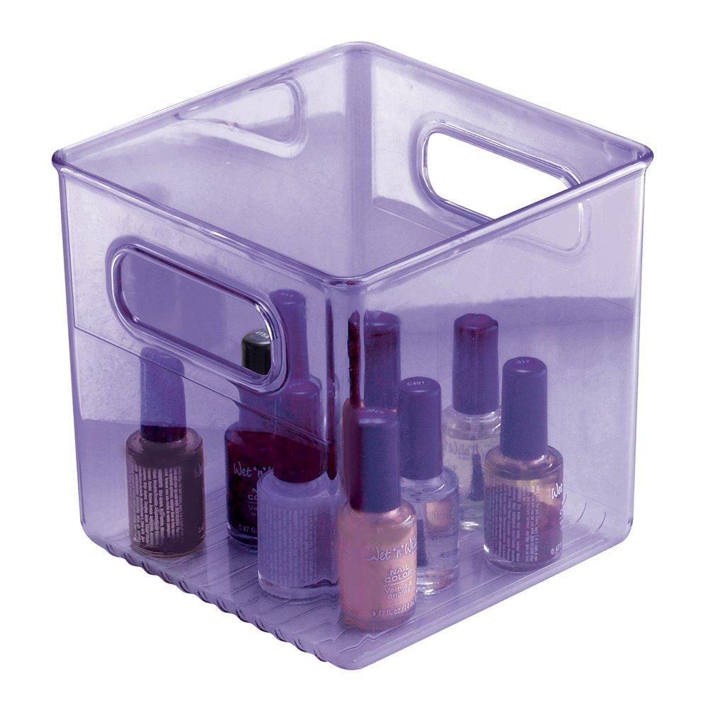10x4x6in organizer bin basket storage box plastic home for Bathroom accessories baskets