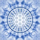 Canvas print 70 x 70 cm: flower of life blue - symbol harmony and balance - blue by Lava Lova - ready-to-hang wall picture, stretched on canvas frame, printed image on pure canvas fabric, canvas print