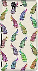 xperia z back case cover ,Girly Retro Regal Peacock Pattern Designer xperia z hard back case cover. Slim light weight polycarbonate case with [ 3 Years WARRANTY ] Protects from scratch and Bumps & Drops.
