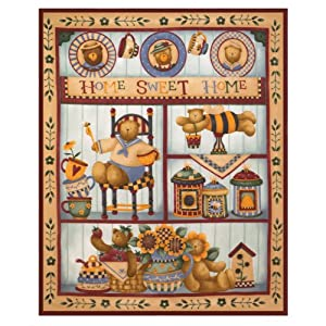 Gifts & Decor Home Sweet Home Country Motif Fleece Blanket Throw