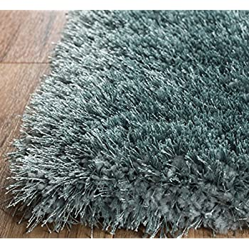 Home Way 3.3-Feet-by-5-Feet Thick Plush Shag Area Rug - Blue