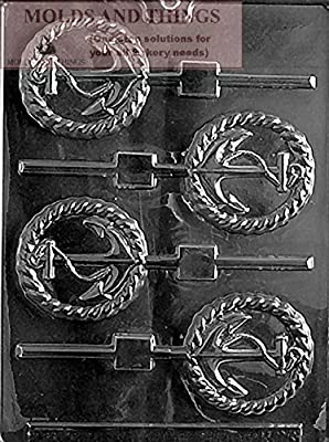 ANCHOR LOLLY Chocolate Candy Mold With © Candy Making Instruction -set of 2