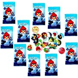 Angry Birds Pogs Power Caps Tazos Game Booster Pack Lot Of 10 / Includes 60 Pogs & 10 Slammers