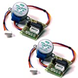 KOOKYE 2 x 28BYJ-48 DC 5V Stepper Motor + ULN2003 Driver Test Module Board for Arduino