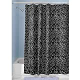InterDesign Twigz Shower Curtain, Black and White, 72-Inch by 72-Inch
