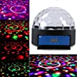 "1Byone 8.6"" Crystal Circular Diso Light Super LED Dome Light, Digital Magic Ball Effect Lighting DMX512 LED Hemisphere Light LED Laser Reflection Projector Light, Apply Lighting For DJ Disco House Party Hotel Stage Office Camping Field Music Concert Etc, Lighting For Halloween And Christmas"