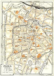 town/city plan. Italy, 1953 vintage map: Wall Maps: Posters & Prints
