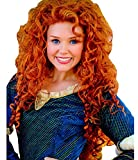 DAYISS Disney Brave Merida Long Wavy Curly Orange Animal Costume Halloween Hair Wig