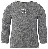 Noppies U Tee ls Puck Text-Camiseta Bebé niños    gris (Anthracite Melange C247) 6 mes