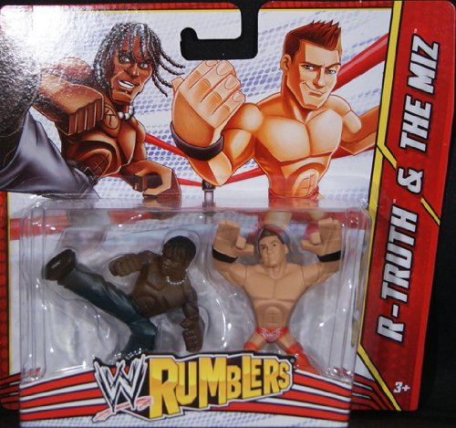 R-TRUTH & THE MIZ - WWE RUMBLERS TOY WRESTLING ACTION FIGURES by Mattel