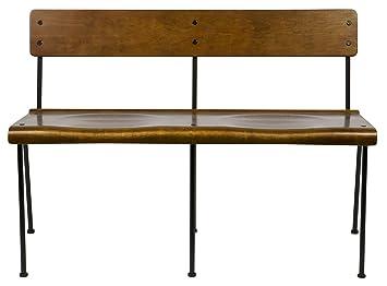 Banc de 2 places en bois de couleur naturelle - Dim : H 75 x L 111 x P 54.5 cm -PEGANE-