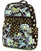 Belvah Womens Quilted Cotton Floral Backpack Bag