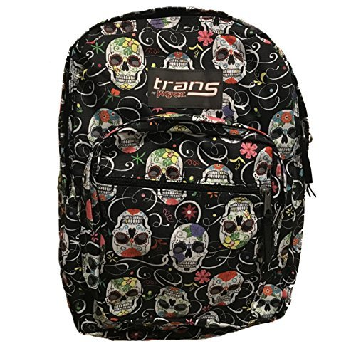 JanSport Sugar Skulls / Dia De Los Muertos Back Pack Laptop Sleeve (Color: multi, Tamaño: One Size)