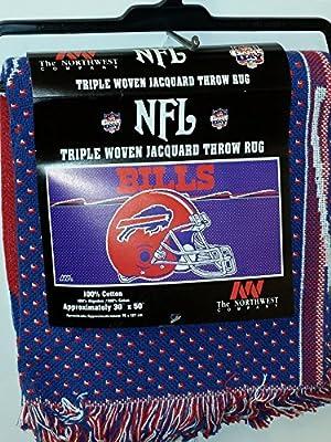 """NFL Throw Rug, """"Buffalo Bills"""" NEW"""