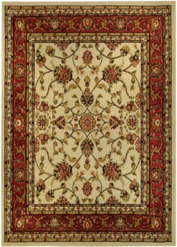 Floral Garden Traditional Red Ivory 4