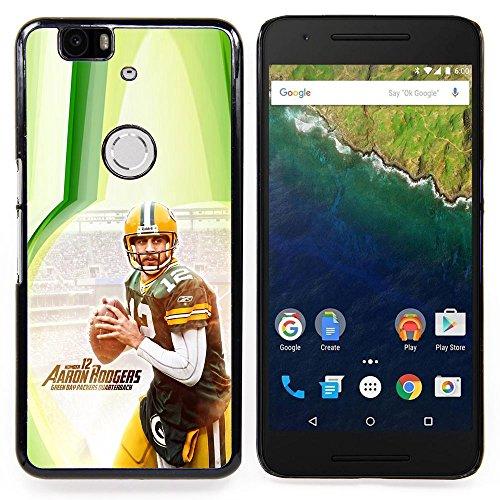 - Aaron Rodger 12 NFL - - Copertura della cassa impatto con Art Pattern Design FOR Huawei Nexus 6P Queen Pattern