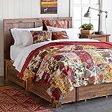 Floral patchwork kantha bedcover