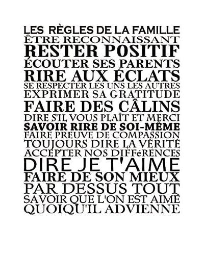 ZZ-Ambiance-sticker Vinilo Decorativo Les Règles De La Famille