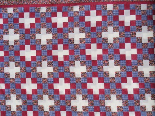 Discount 3 Yds Cheater Quilt Top Fabric Irish Chain 90 Quot X