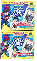 Justice League Limited Edition Fun Printed PopTarts 32 Frosted Strawberry Pastries