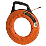 Klein Tools 56058 Fish Tape 100-Foot is Grooved Non-Conductive Fiberglass, Flexible, Pull Line to 500-Pound