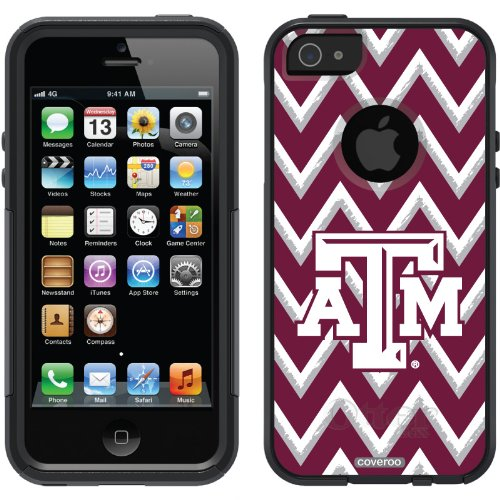 Special Sale Texas A&M Sketchy Chevron design on a Black OtterBox® Commuter Series® Case for iPhone 5s / 5