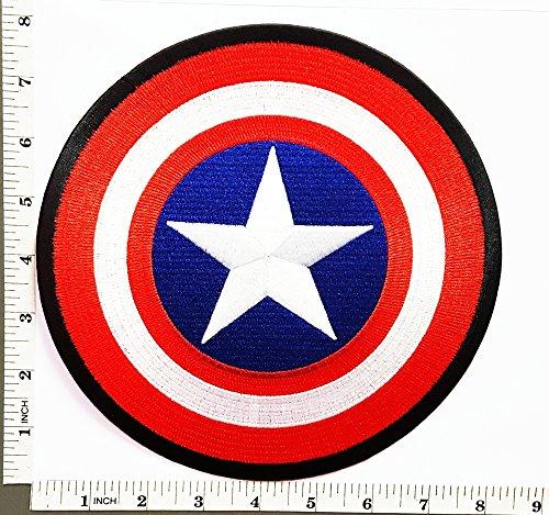 Big Jumbo Large Big Huge Jumbo captain america Cartoon movie logo patch Jacket T-shirt Sew Iron on Patch Badge Embroidery (Captain America Logo Iron On compare prices)