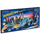"""Schipper 609220369 - Malen nach Zahlen - Manhattan bei Nacht, 40x80 cmvon """"Noris Spiele"""""""
