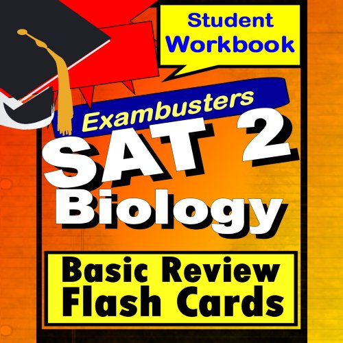 SAT Biology E/M Review Test Prep Flashcards--SAT Study Guide (Exambusters SAT 2 Study Guide Book 1) (Sat Ii Biology Kaplan compare prices)