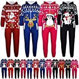 KIDS-GIRLS-BOYS-NOVELTY-CHRISTMAS-SANTA-CLAUS-PENGUIN-SNOWMAN-REINDEER-PRINT-ONESIE-ALL-IN-ONE-JUMPSUIT-NEW-AGE-7-13-YEARS