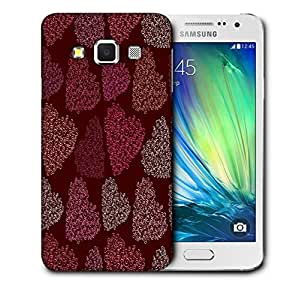 Snoogg Multicolor Hearts Printed Protective Phone Back Case Cover For Samsung Galaxy A3