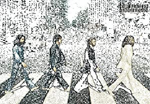The Beatles (Abbey Road) 3-D Music Poster Lenticular Print - 28x43 cm