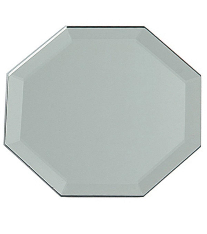 12 inch octagon glass mirror w bevel edge for Octagon beveled mirror
