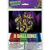 Teenage Mutant Ninja Turtles Latex Balloons, 8 Count