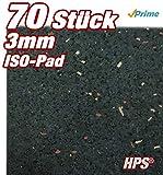 HPS® 70Stück 3mm - Gummipad, Terrassenpad, Gummigranulat,...