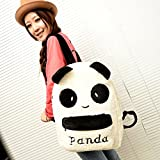 Coofit® Preppy Style Fashion Cute Plush Panda Backpack Students' School Bag