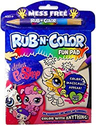 Littlest Pet Shop Activity Set Rub N Color Fun Pad