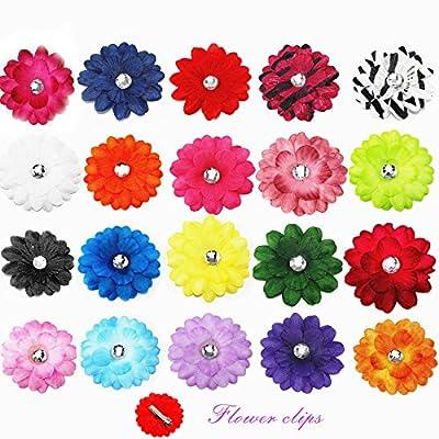 "20pcs 2"" Boutique Hair Daisy Flower Girls Kids Children Alligator Clip Hair Clips 20 Color"