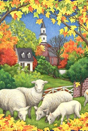 Toland Home Garden Autumn Flock 28 X 40 Inch Decorative