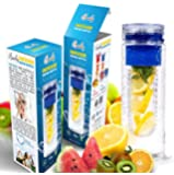 Infuser Water Bottle - 28 ounce - Made with Commercial Grade Tritan-Blue