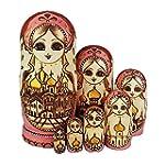 King&Light 7pcs Russian Nesting Dolls...