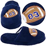 Navy Football Slippers for Boys