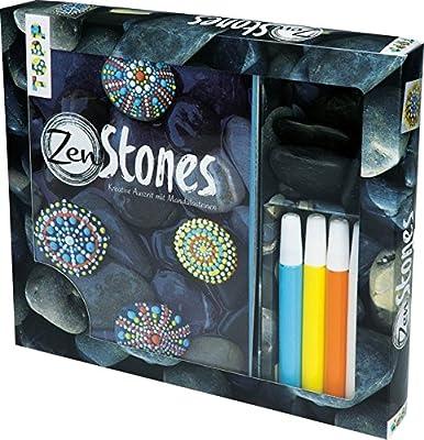 Kreativ-Set ZenStones: Buch mit Grundanleitungen und Material zum Steine bemalen: 4 Steine und 4 Acrylfarben à 15 ml (Buch plus Material)